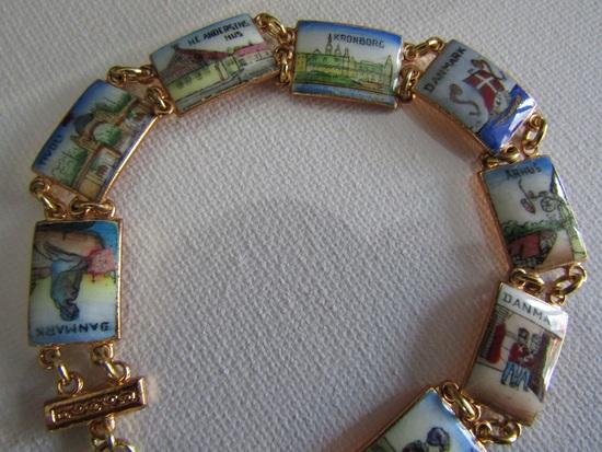 Vintage Danmark Enamel Bracelet