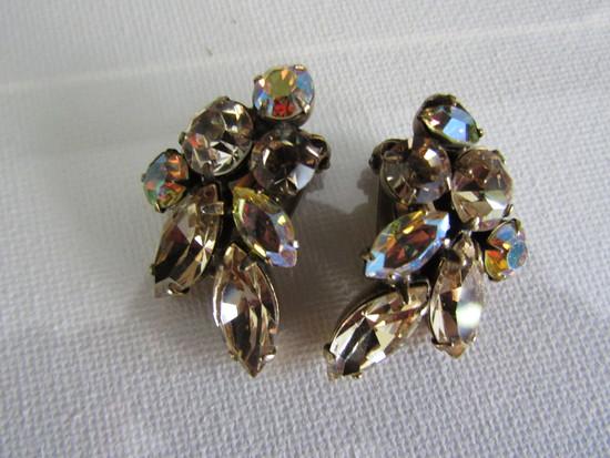 Vintage Juliana AB Rhinestone Earrings