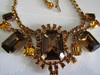 Vintage Highend Amber Rhinestone Necklace