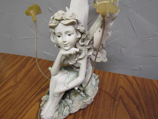 "Fairy with Flowers Décor, 14"" Tall"