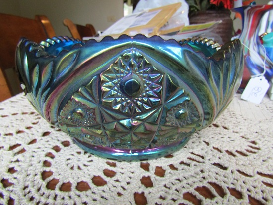 Vintage Carnival Glass Dish