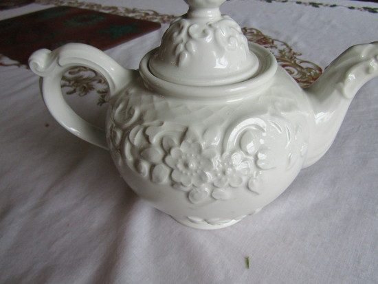 Vintage Tea Pot Cream Colored