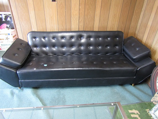 7 ft Black Couch