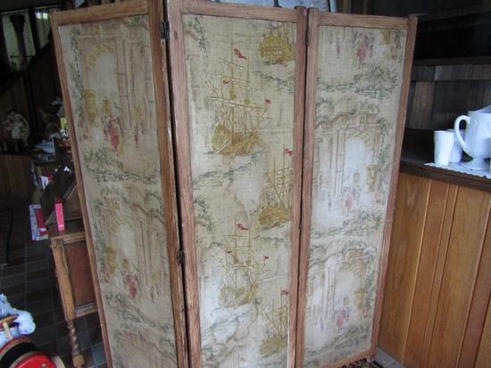 Antique Dressing Screen