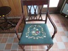 Vintage Chair, Needlepoint cushion