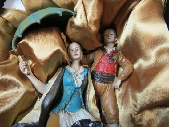 Giordano di Ponzano man and woman figurine