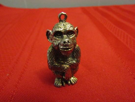 Vintage Brass Monkey Pendent
