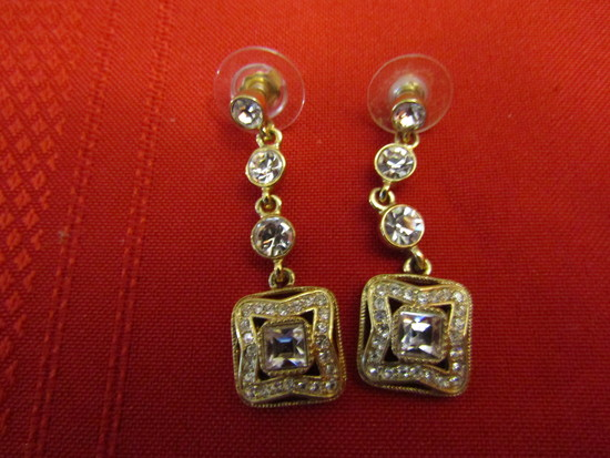 Vintage Givenchy Rhinestone Post Earrings