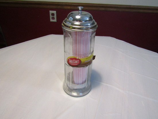 Table Craft Old Fashion Soda Fountain Straw Dispenser