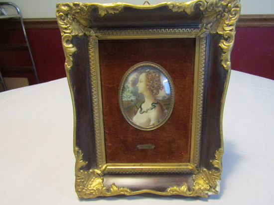 Antique/Vintage Victorian Woman Framed Picture