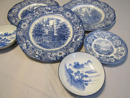 Lot of 6 Staffordshire Ironstone and Loche of Scotland