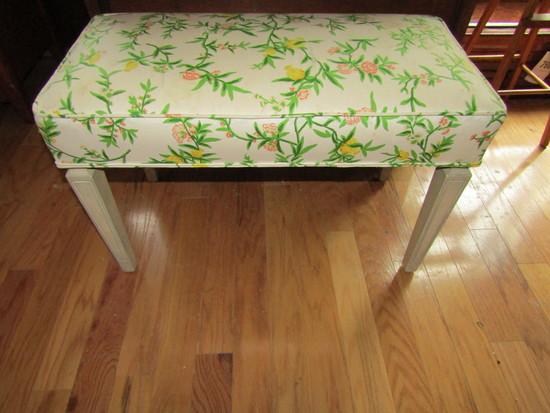 Vintage Padded Vanity Bench