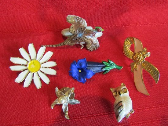 Lot of 6 Vintage Pins