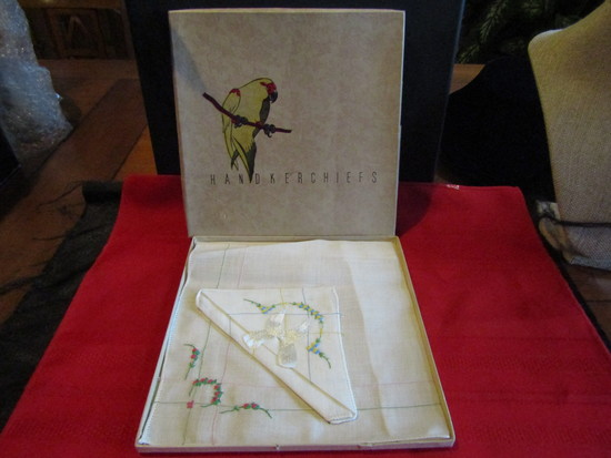 Vintage Handmade Handkerchiefs in Original Box
