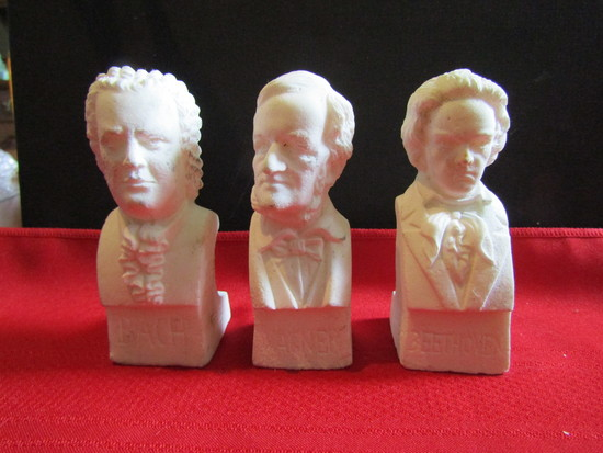 Vintage Lot of 3 Bust Décor