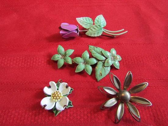 Vintage Lot of 4 Mixed Jewelry including Austria