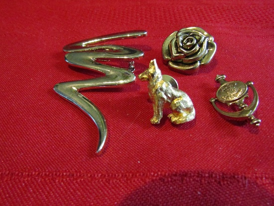 Vintage Lot of 4 Pins, Brooches, Button