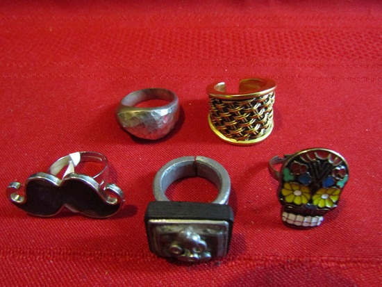 Vintage Lot of 5 Rings
