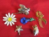 Lot of 6 Vintage Pins