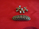 Lot of 2 Vintage Brooch and Clip