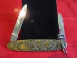 Vintage Solingen Pocket Knife, Brass Cover