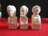 Vintage Lot of 3 Bust Décor