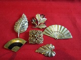 Lot of 6 Vintage Brooches
