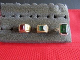 Lot of 3 Vintage Rings, 14and 18 Kt GP