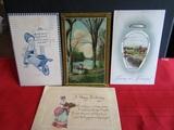 Lot of 4 Vintage/Antique Postcards
