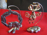 Vintage Lot of 2 Ricker Ornaments with Stand, Signed