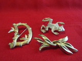 Vintage Lot of 3 Brooches, Sara Coventry