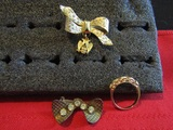 Lot of 3 Vintage Brooches and Ring
