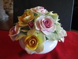 Vintage Flower Bowl, Golden Crown, England