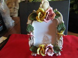 Vintage China Flower Picture Frame, Italy