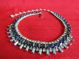Vintage Sapphire and Blue Topaz Necklace