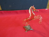 Vintage Hand Made Glass Horse