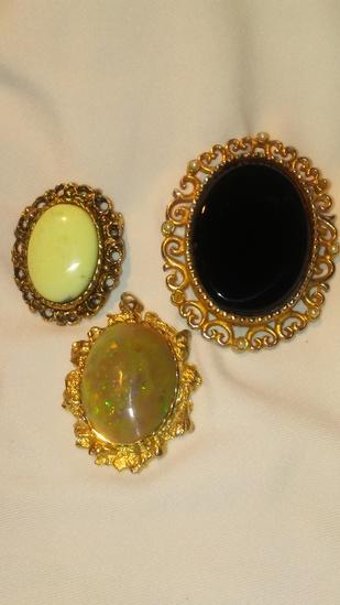 Stone Cameos Set of 3