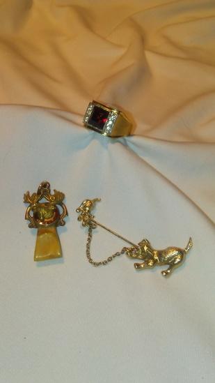 Lot of 3 Vintage Men's Jewelry Assortment