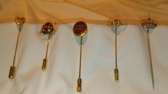 Lot of 5 Vintage Stick Pins