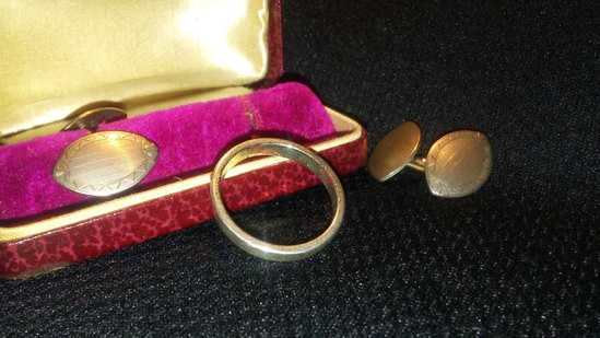 3 piece Vintage Ring and Cuff Links
