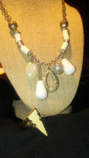 2 Pc. Vintage Ring and Necklace Costume Jewelry