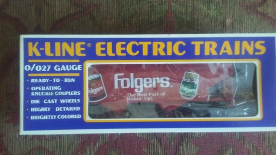 K-Line Folgers Advertisement Train Car