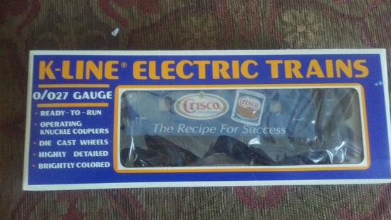 "K-Line Electric Train ""Crisco"" Ad Train Car"