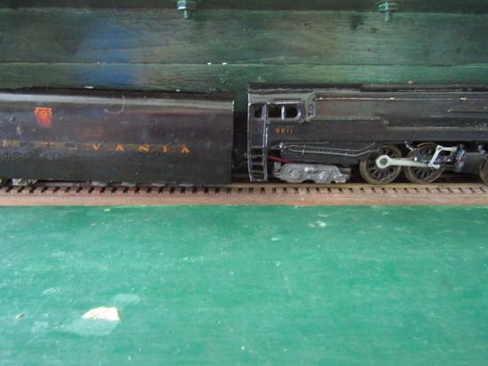 Pre War Heavy Metal Pennsylvania RR Engine 5511 Display