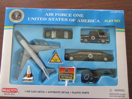 Realtoy Air Force One Playset, Die Cast, in Original Packaging