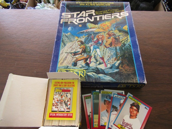 TSR, Star Frontiers Game and Topps 1989 DeBut Baseball Cards