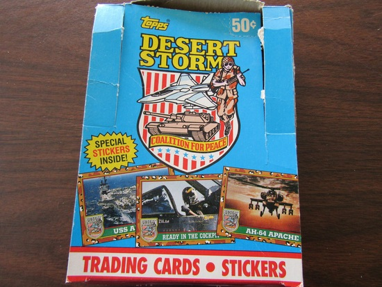 Topps Desert Storm Trading Cards, in Original Box