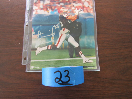 Team NFL Signed Cleveland Browns Photogragh, # 85, in Good Condition