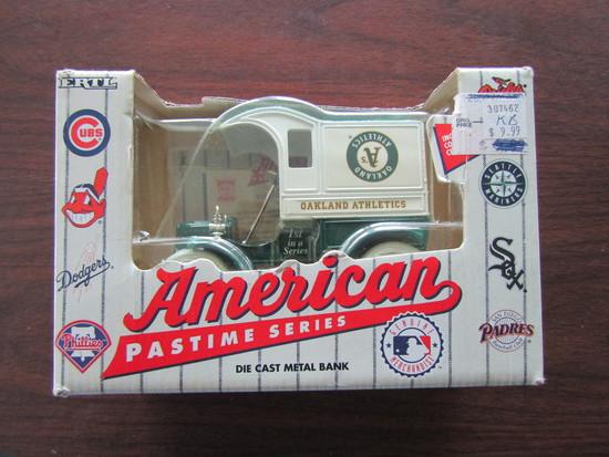 American Pastime Series Oakland Athletics Die Cast Bank, in Original Box