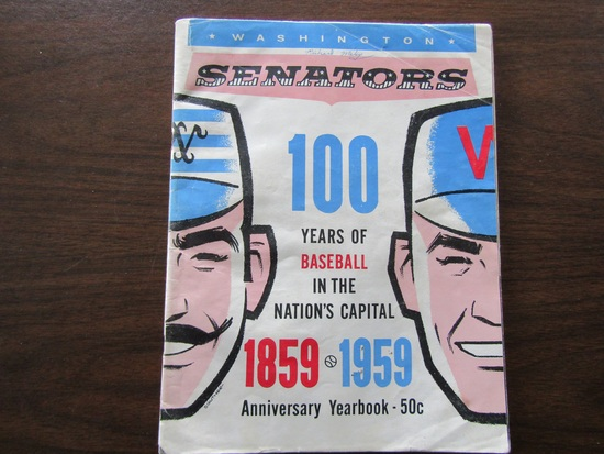 1959 Washington Senators Anniversary Yearbook, 100 Years, in Good Condition